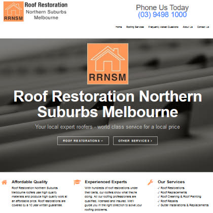 Roof Restoration Northern Suburbs Melbourne